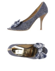 Pompili Pumps Slate Blue