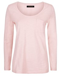Jaeger Jersey Pocket Detail Top Pink