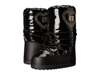 Love Moschino Patent Moon City Snow Boots Black Women's Boots