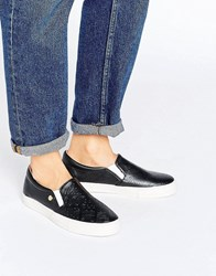 Love Moschino Stamp Logo Plimsoll Black
