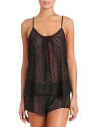 In Bloom Cami And Short Set Black
