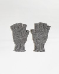 Mhl By Margaret Howell Rib Cuff Fingerless Glove Marl Grey