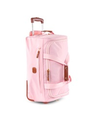 Bric's X Travel Medium Rolling Duffle Bag Pink