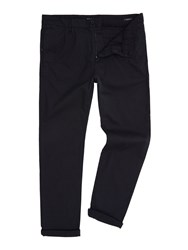 Replay Men's Slim Fit Stretch Dobby Trousers Black And Grey Black And Grey