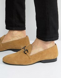 Frank Wright Tassel Loafers Tan Suede Tan