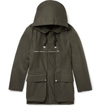 Balenciaga Cotton Twill Parka Green