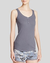 Pj Salvage Henley Tank Gray