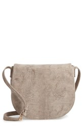 Sole Society Livvy Faux Leather Crossbody Saddle Bag Beige Taupe