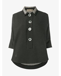 Jour Ne Polka Dot Shirt With Front Button Fastening Black White