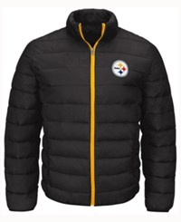 G3 Sports Men's Pittsburgh Steelers Skybox Packable Quilted Jacket Black
