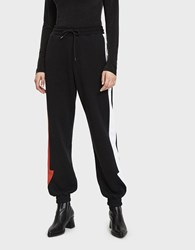 Msgm Arrow Fleece Jogger Black