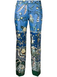 F.R.S For Restless Sleepers Printed Cropped Trousers Blue