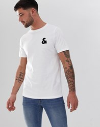 Jack And Jones Essentials Crew Neck T Shirt With Chest Logo White