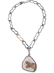 Kelly Wearstler 'Roxbury' Pendant Necklace Grey