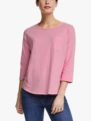 John Lewis Collection Weekend By 3 4 Sleeve Slub T Shirt Pink