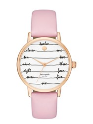 Kate Spade Ballet Slipper Chalkboard Metro Watch Ballet Slipper Rose Gold