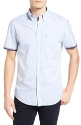 Ben Sherman Men's Mod Fit Tipped Woven Shirt