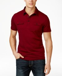 Alfani Black Men's Angelo Two Tone Polo Only At Macy's
