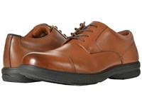 Nunn Bush Melvin Street Cap Toe Oxford With Kore Slip Resistant Walking Comfort Technology Tan Lace Up Wing Tip Shoes
