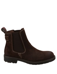 Bass Redstone Suede Double Gore Ankle Boots Dark Brown