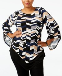 Alfani Plus Size Chevron Print Top Only At Macy's Chevron Camel