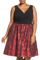 Adrianna Papell Fit And Flare Party Dress Plus Size Multi