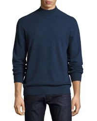 Neiman Marcus Cashmere Mock Neck Sweater Putty