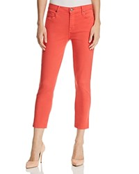 Parker Smith Pedal Pusher Cropped Straight Leg Jeans In Sunburst