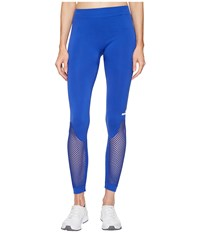 Adidas By Stella Mccartney The Seamless Mesh Tights S97519 Bold Blue Women's Workout