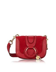 See By Chloe Chlo Hana Red Velvet Leather And Suede Crossbody Bag