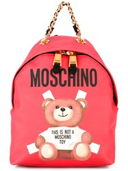 Moschino Teddy Bear Back Pack Red