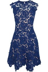 Catherine Deane Fjola Guipure Lace Mini Dress Cobalt Blue