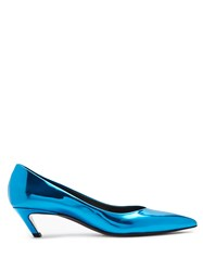 Balenciaga Talon Slash Pumps Blue
