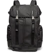 Polo Ralph Lauren Leather Trimmed Ripstop Backpack Black