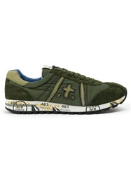 Premiata Lace Up Sneakers Green