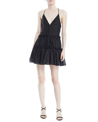 Cami Nyc The Sky Racerback Ruffle Slip Dress Black