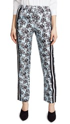 Robert Rodriguez Striped Track Pants Blue Orchid