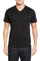 Robert Barakett Men's Georgia V Neck T Shirt Black