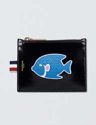 Thom Browne Calf Leather Embroidered Small Coin Purse 14.5Cm