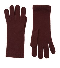 Harrods Knitted Cashmere Gloves Red