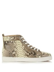 Christian Louboutin Louis Glow In The Dark Python High Top Trainers Multi