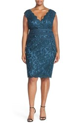 Plus Size Women's Tadashi Shoji Embroidered Lace Sheath Dress Starry Night