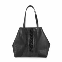 Volver Design Group Bethenny Tote Black Ostrich