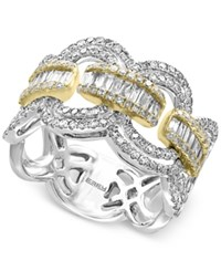 Effy Duo By Diamond Statement Ring 1 1 10 Ct. T.W. In 14K White And Yellow Gold Two Tone
