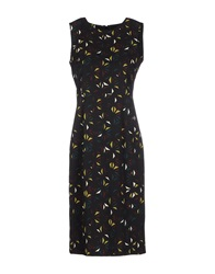 Laura Urbinati Knee Length Dresses Black