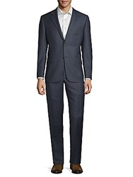 Hickey Freeman Milburn Wool Suit Blue