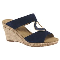 Gabor Sizzle Wide Fit Wedge Heeled Sandals Blue