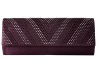 Jessica Mcclintock Ava Satin Clutch Plum Clutch Handbags Purple
