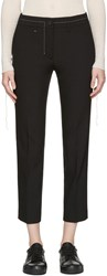 Helmut Lang Black Cropped Trousers