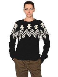 N 21 Embroidered Wool And Cashmere Sweater